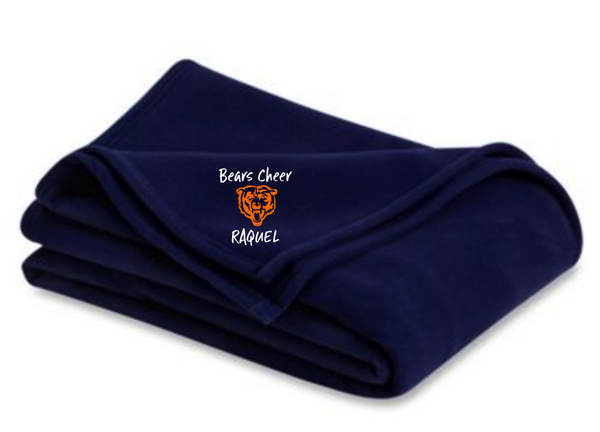 Bears Black Blanket