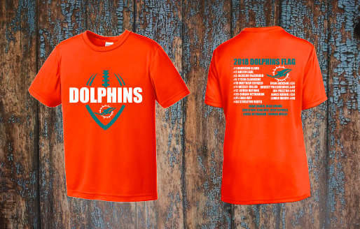 Dolphins Flag Football Roster shirt
