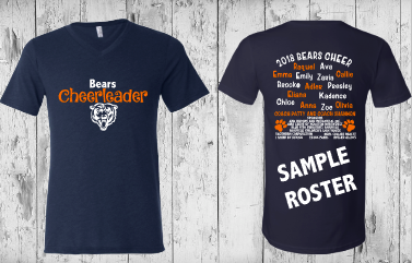 Roster - Bears Varisty