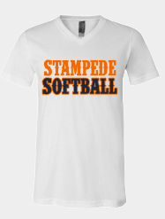 Ladies Stampede Softball Western letters