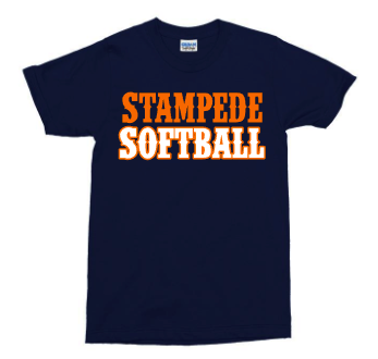 Mens Stampede Softball Western Letters