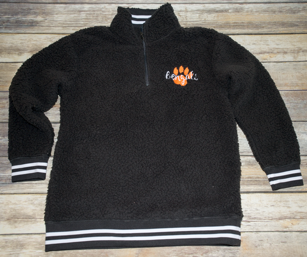 Charcoal Athletic Sherpa Bengals with paw
