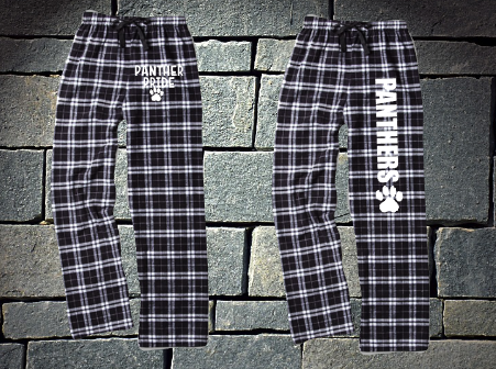 Pope Panthers Black and White Flannel Pants