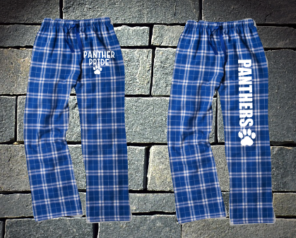 Pope Panthers Royal and Silver Flannel Pants