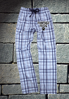 Pope Panthers Columbia Blue and Navy Flannel Pants