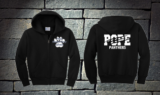 Pope Panthers with Claw Full Zip Hoodie