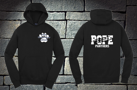 Sport Tek Pope Panthers with Claw Hoodie - No Zip