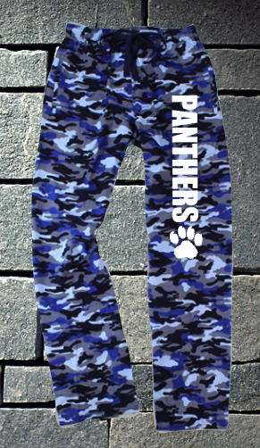 Pope Panthers Blue Camo Flannel Pants