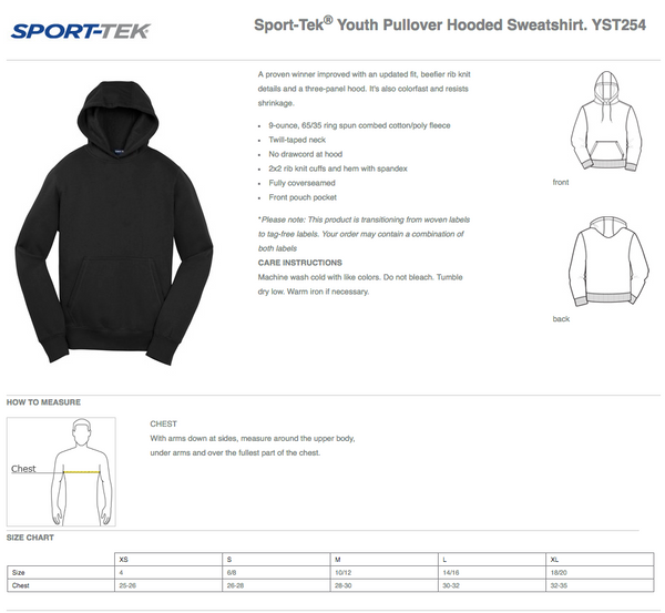 Sport Tek Pope Elementary Panthers Hoodie - No Zip
