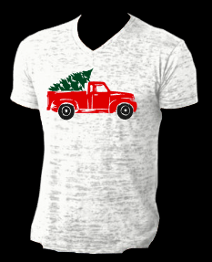 Red Truck Christmas Next Level Burnout Large and Medium