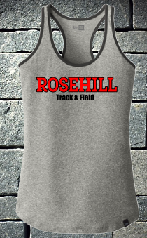 Rosehill Grey Track and Field Razorback Tank