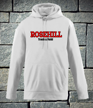 Rosehill Solid White Track and Field Hoodie