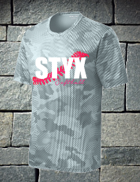 Styx camo hex white Styx with cursive softball
