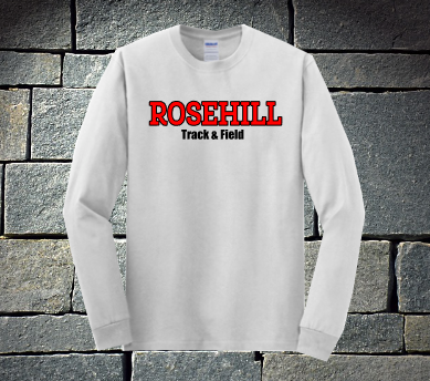 Rosehill Track and Field Heavy Cotton long sleeve - white