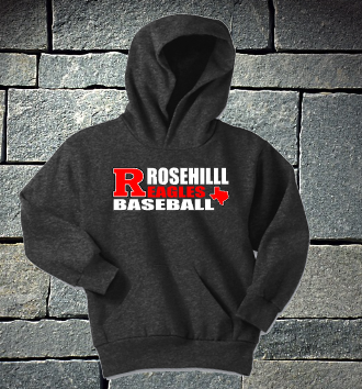 Rosehill Dark Heather Grey Texas Baseball Hoodie - P&C