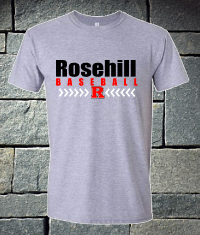 Rosehill Baseball laces Short Sleeve Gildan Softstyle Sport Grey
