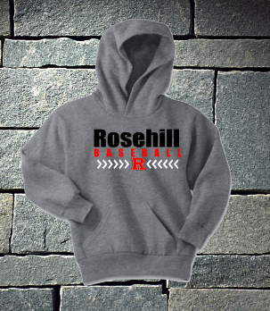 Rosehill Athletic Heather Baseball laces hoodie - P&C