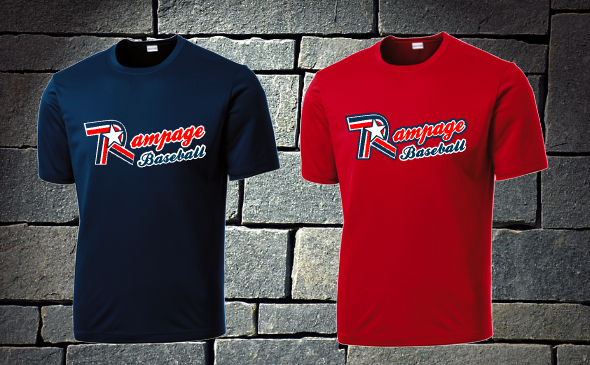 Rampage Baseball Dri fit shirt