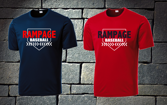 Rampage Baseball Dri fit shirt Home base