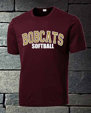 Bobcats Softball Mens T-shirt and Dri fit