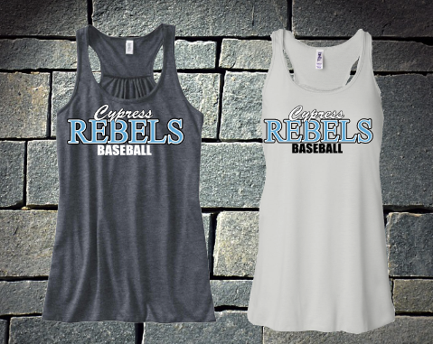 Cypress Rebels Baseball - racerback tank