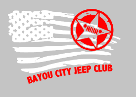 Bayou City Jeep Distress American Flag