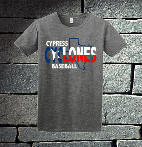 Cypress Cyclones Red, White and Blue Texas - Mens