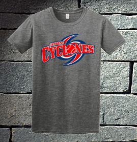 Cypress Cyclones Red, White and Blue Logo - Mens