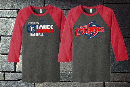 Cypress Cyclones Patriotic Raglan