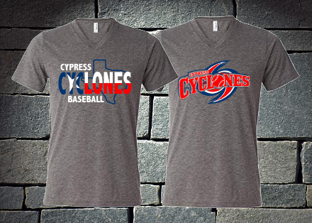 Cypress Cyclones Patriotic T-shirt - ladies