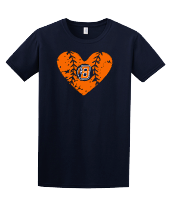 Distressed Baseball Heart B logo