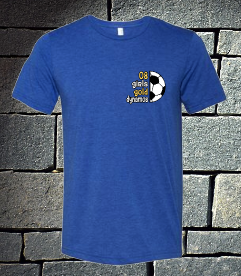08 gold Soccer t-shirt options