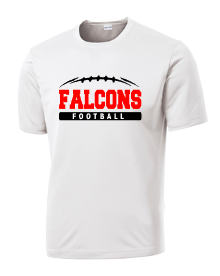 Falcons football with curved lace