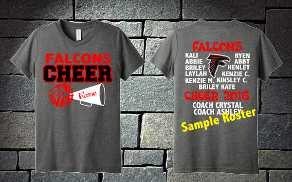 Falcons Cheer Girls Roster shirt