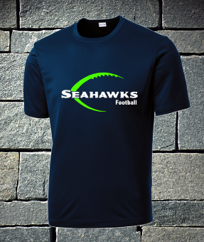 Seahawks with football outline - mens