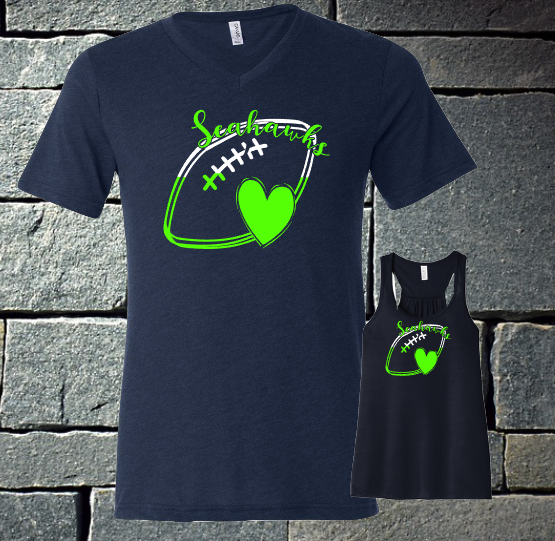 2 color seahawks football