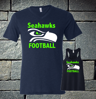 Seahawk logo ladies t-shirt and tanks