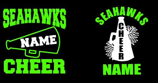 Seahawks Cheer Car Decal