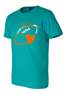 Dolphins two color ladies t-shirts