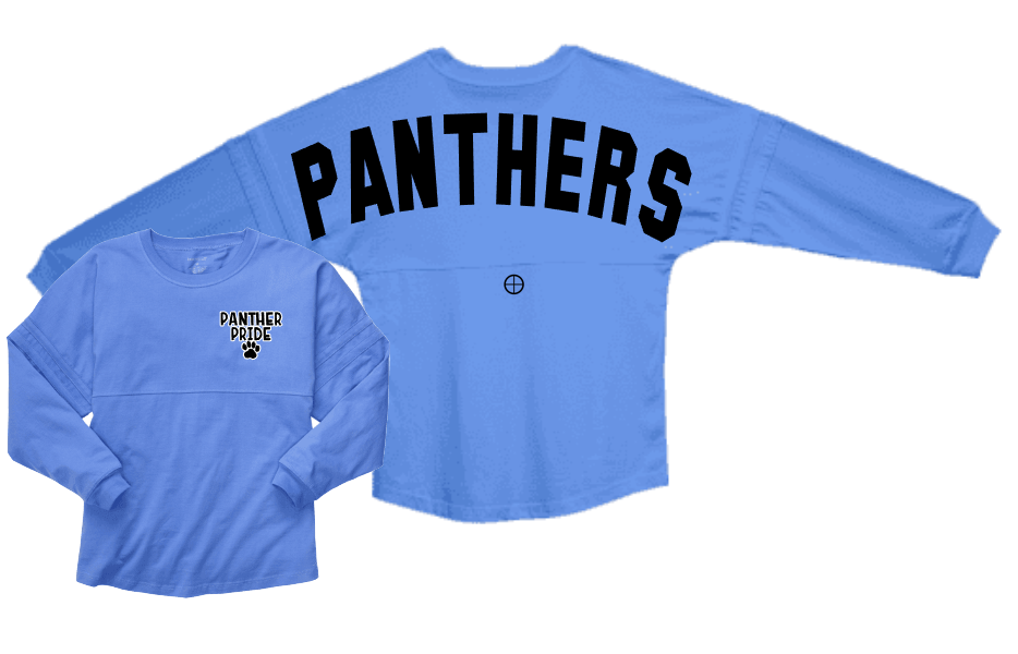 Panthers Spirit Jersey Adult Small glitter letters