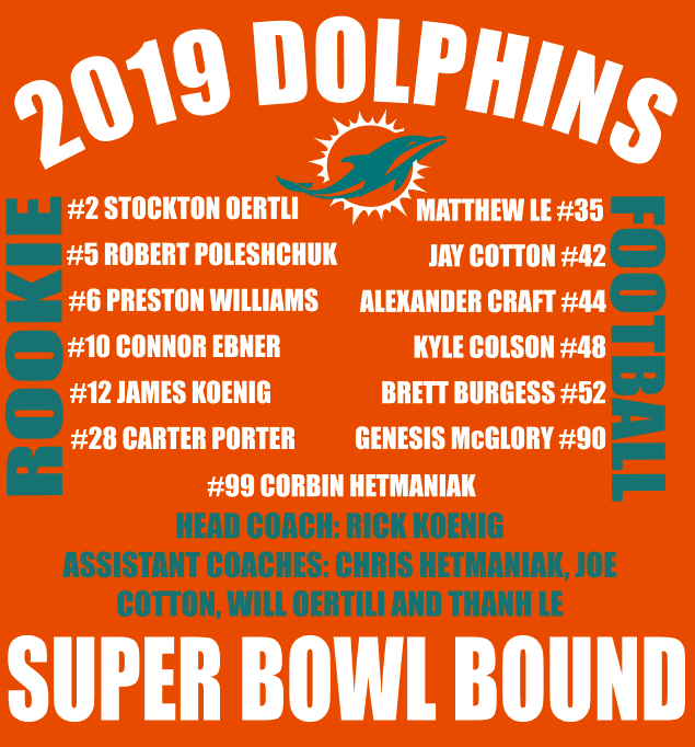 Dolphins Rookie Football Roster 2019