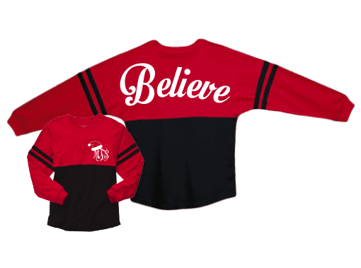 Believe Spirit Jersey Red and Black with monogram front- youth large 2 available