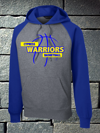 Cypress Warriors Basketball Colorblock Hoodie