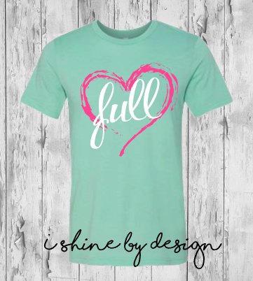 NEW - Full Heart - Heather Mint