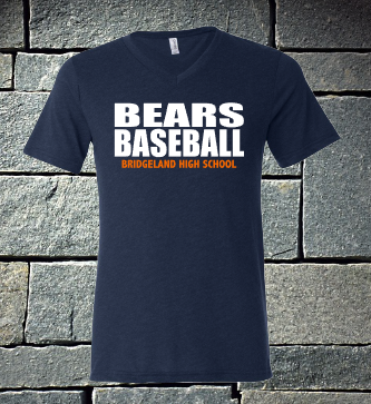 Bridgeland Bears Baseball - block font