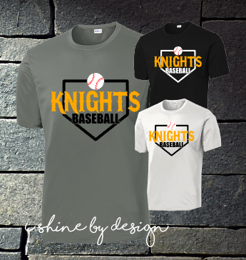 Knights Baseball home plate - youth and adult