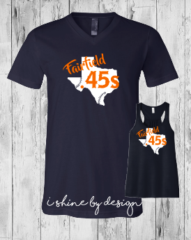 .45s Baseball State of Texas fun font- ladies