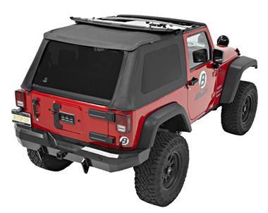 "Bestop's new ""Bowless"" Fastback top Trektop NX Fits 2007 to 2016 Wrangler and Rubicon"