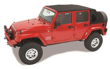 Bestop Trektop NX with Tinted Windows and without Doors Fits 2007 to 2016 Wrangler Unlimited