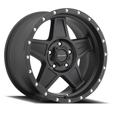 Maxxis 37X12.50R17LT, Trepador Radial & Procomp Series 5035 Predator, 17x8.5 with 5 on 5 Bolt Pattern - Satin Black with Center Caps and lug nuts Set of 4